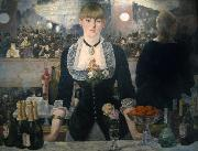 Edouard Manet A Bar at the Folies-Bergere (mk09) oil painting reproduction